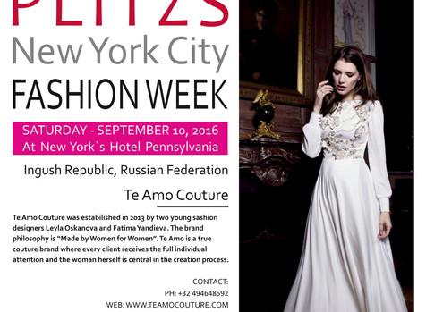 Бренд TE AMO COUTURE представит коллекцию на неделе моды в Нью-йорке 10 сентября! / #fashionshow