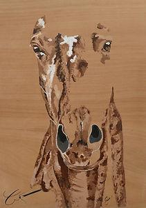 """""""N° Uno"""" Acrylique en effacé sur bois 60 x 85 cm"""