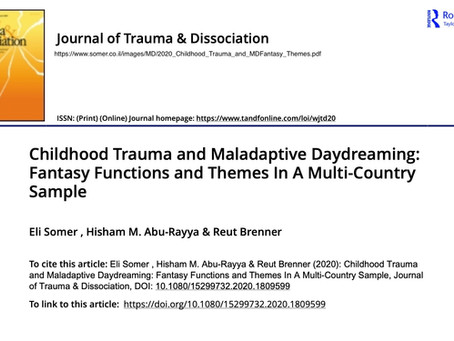 Research results the relation of chilhood trauma and maladaptve daydreaming themes