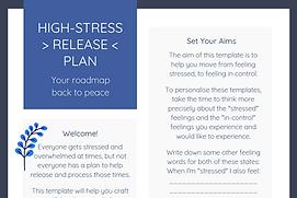 High Stress Release Plan TEMPLATE RAC pi