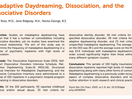 How prevalent is maladaptive daydreaming in a severely traumatized inpatient sample?