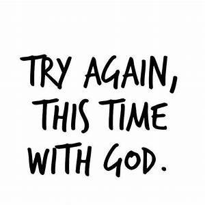 I Will Trust God, Again.