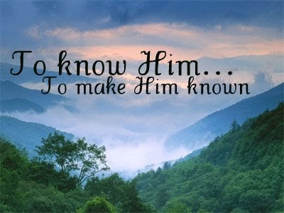 To Know Him...