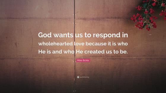 Respond By Loving!