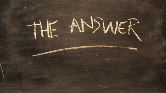 Be the Answer