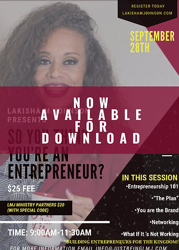 So You Think You Are an Entrepreneur Digital