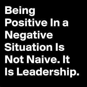 Negativity is Not an Answer
