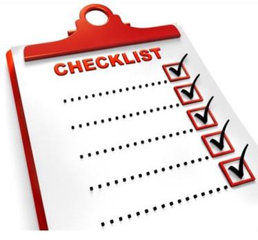 The Checklist...
