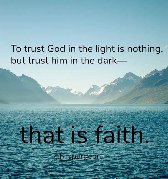 I Don't Trust God....
