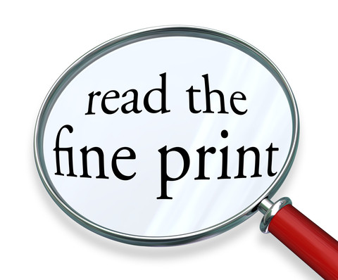The Fine Print!