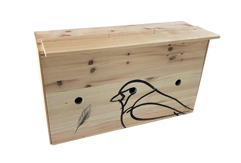 Traditionelle Kiste - Das Spatzenhotel
