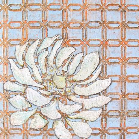 Encaustic Flower #16
