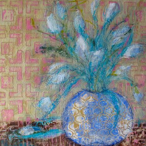 Encaustic Flower #10