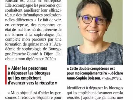 Article Bien Public. Février 2021