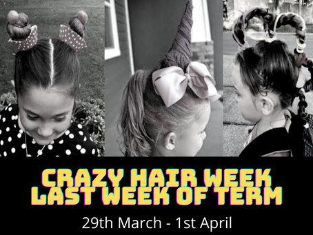 CRAZY HAIR WEEK FOR THE LAST WEEK OF TERM