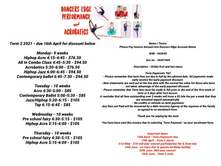 Classes Start Back This Monday 19th!!!