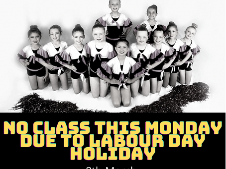 No class this Monday have a fantastic long weekend 😊