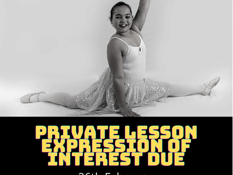 Private lesson expression of interest due