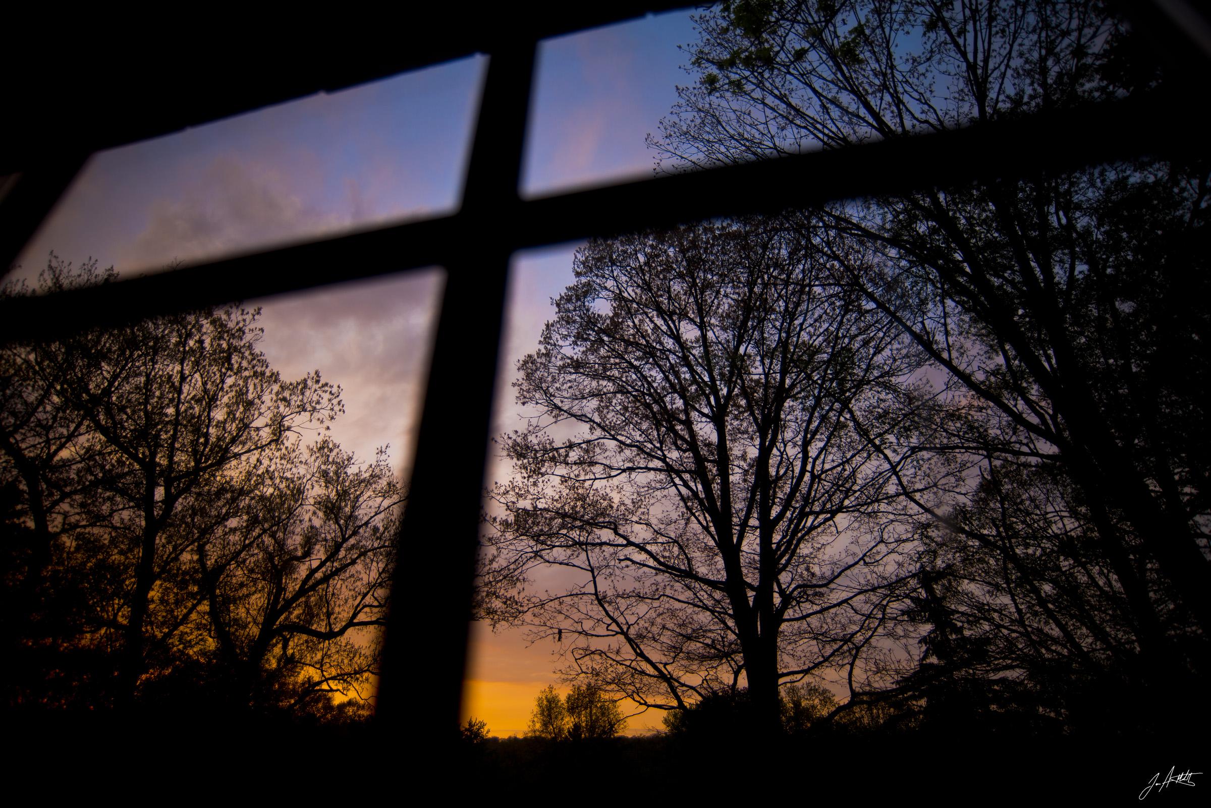 Day142_Window Sunset_May22