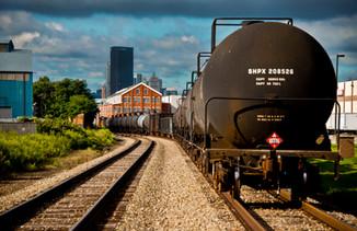 17 Train and City Skylne