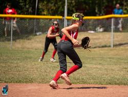 Kayla heading to the ball