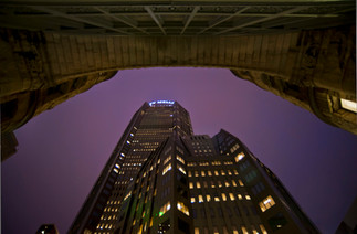 35 Courthouse and Mellon 1 at night