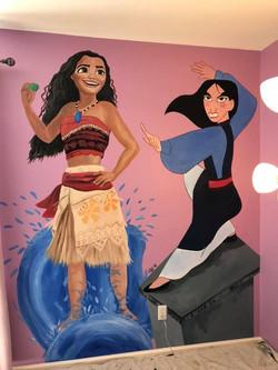 Mulan and Moana Mural