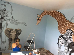 I am working on a #mural for a friend's #nurserydecor and it is coming along! Let me know if you are