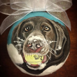 CustomPetOrnaments #petportrait #handpainted #dogsofinst