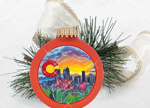 Denver Skyline Ornament