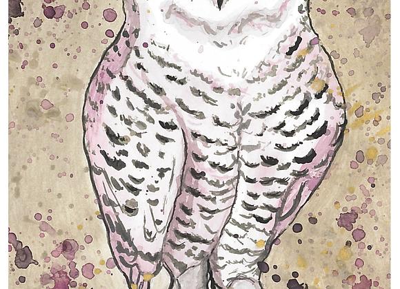 Owl Eyes Print on Wood