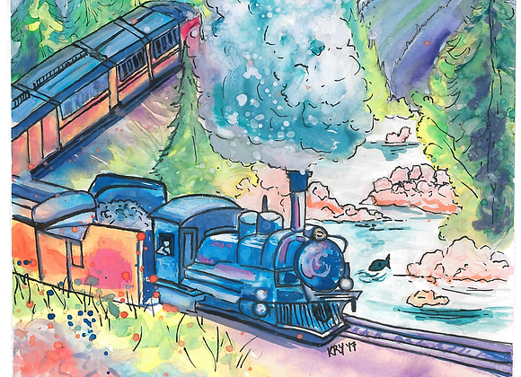 The Mountain Train Print