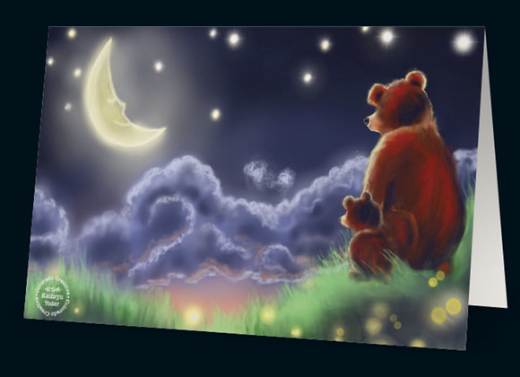 I Love You to The Moon and Back-Greeting Card
