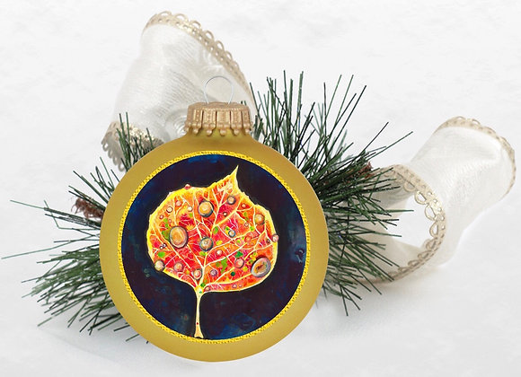 Aspen Leaf Ornament WS