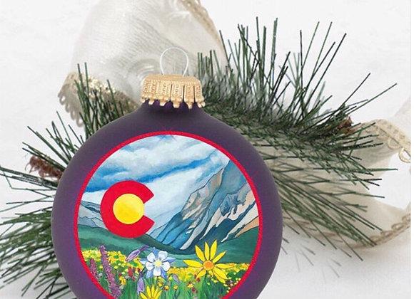Colorado Wildflower Ornament WS