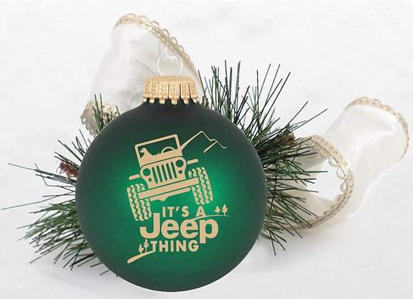 It's a Jeep Thing Ornament WS