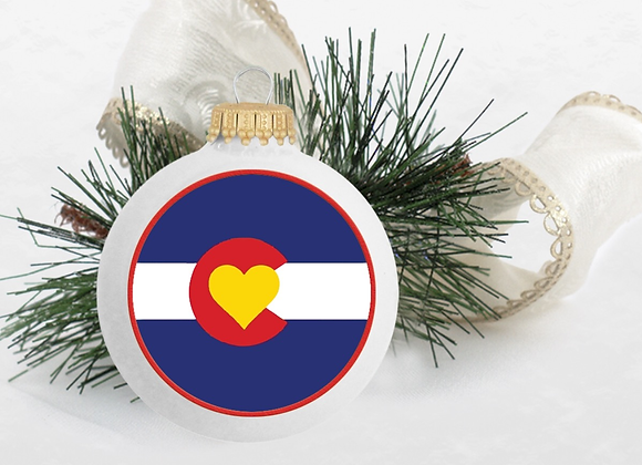 Colorado Love Ornament