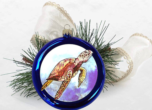 Sea Turtle Disc Ornament