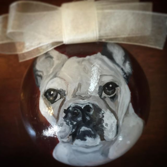 I have a football in my mouth. _) Custom pet portraits and ornaments make great gifts .jpg
