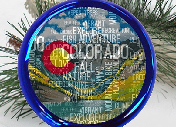 Colorado Adventure Ornament  Blue