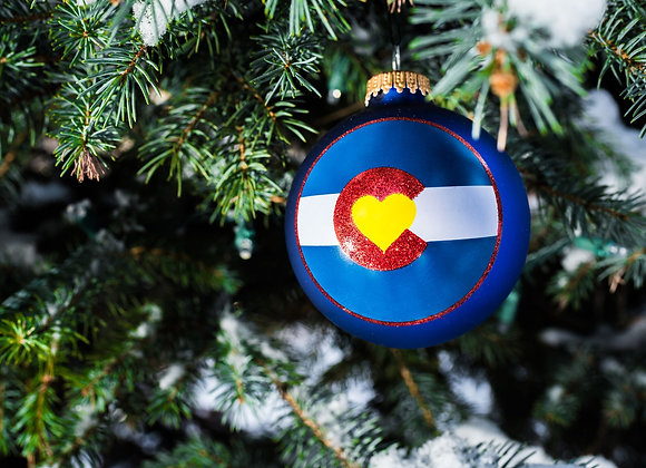 Colorado Love Ornament Blue