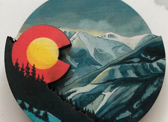 Snowy Colorado 3D Ornament or Magnet