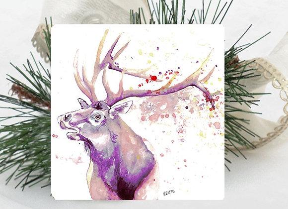 Elk Travertine Coaster