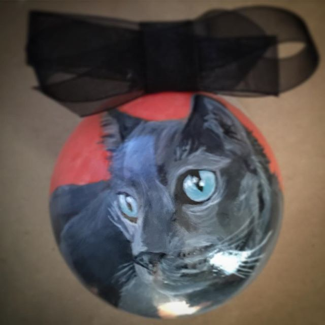 #catsofinstagram #customornament #handpainted