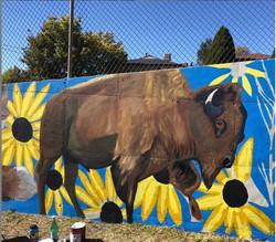 Bison Mural