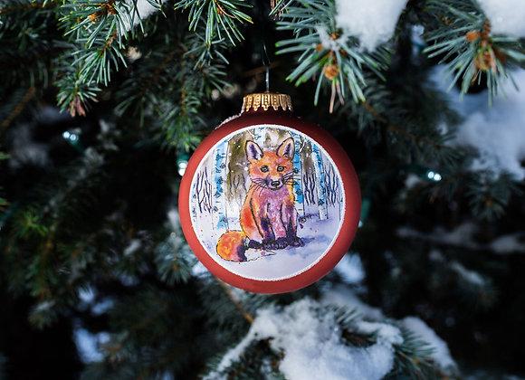Baby Fox Ornament WS
