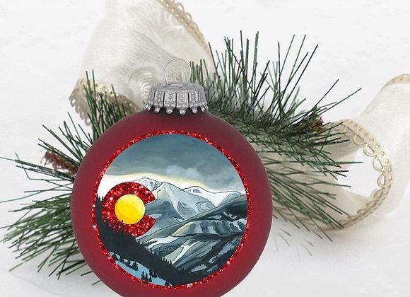 Snowy Colorado Ornament