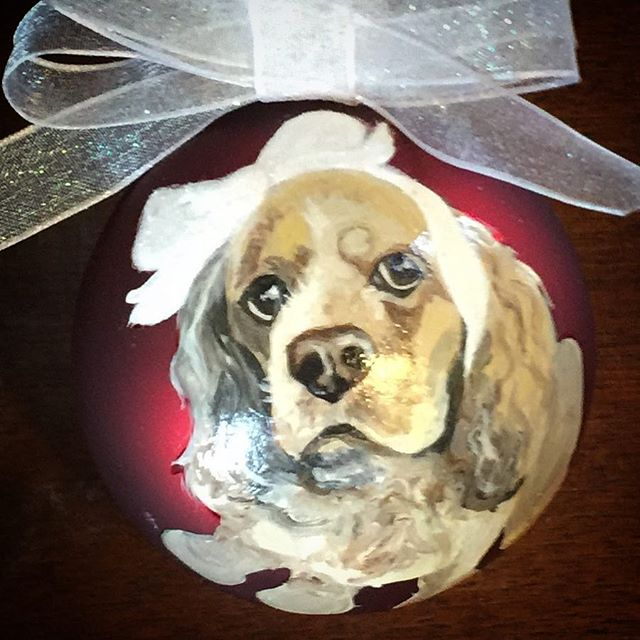 CustomPetOrnaments  #petportrait #handpainted #christmas