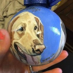 Another ornament in the books! #dogsofinstgram  Handpainted Christmas ornaments make the perfect gif