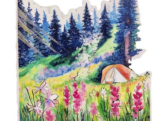 Tent Camping Sticker